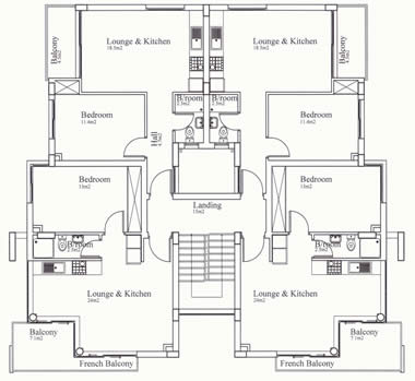 Kyrenia Court IV-V Floor Plan 1 Bedroom