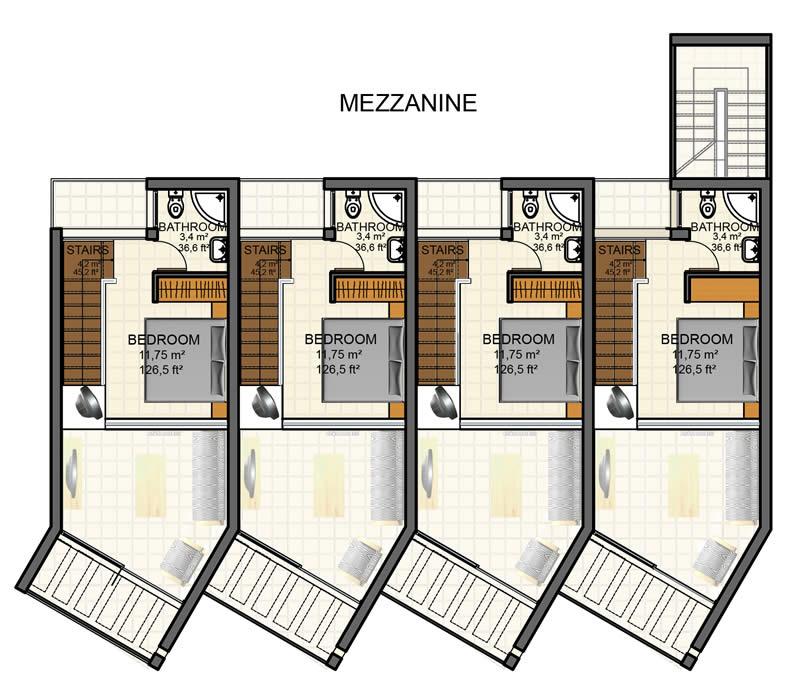 North cyprus apartment property kyrenia court suites viii for Mezzanine floor plans