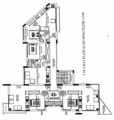 KYRENIA COURT SUITES XI - Apartments - 1st and 2nd floor plans