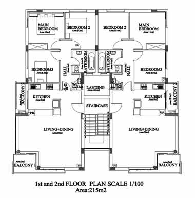 Kyrenia Court XV  - 1st and 2nd Floor Plan