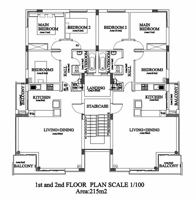 Kyrenia Court XV   1st And 2nd Floor Plan
